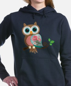 Funny Cute owl Women's Hooded Sweatshirt