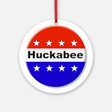 Vote Huckabee Round Ornament