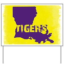 Louisiana Rustic Tigers Yard Sign