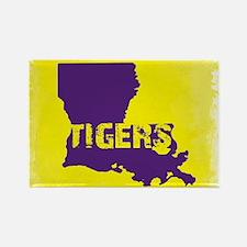 Louisiana Rustic Tigers Magnets