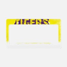 Louisiana Rustic Tigers License Plate Holder