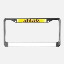 Louisiana Rustic Tigers License Plate Frame