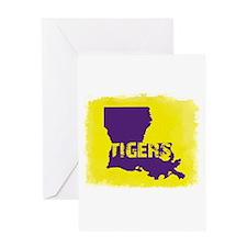 Louisiana Rustic Tigers Greeting Cards