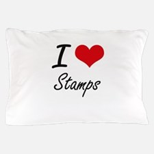 I Love Stamps artistic Design Pillow Case