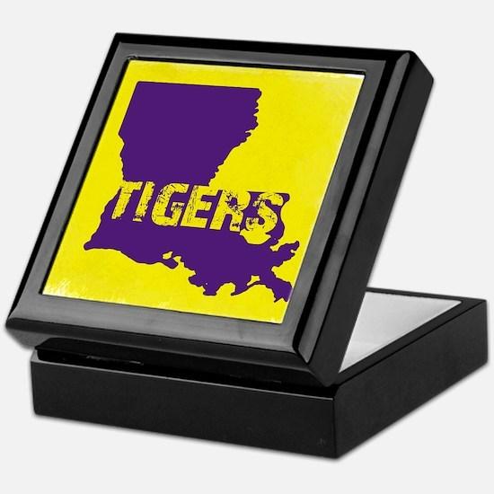 Louisiana Rustic Tigers Keepsake Box