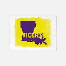 Louisiana Rustic Tigers 5'x7'Area Rug