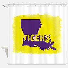 Louisiana Rustic Tigers Shower Curtain