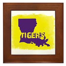 Louisiana Rustic Tigers Framed Tile