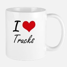 I Love Trucks artistic Design Mugs