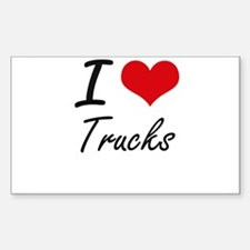 I Love Trucks artistic Design Decal