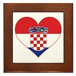 Heart of Croatia Framed Tile