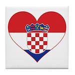Heart of Croatia Tile Coaster