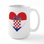 Heart of Croatia Large Mug