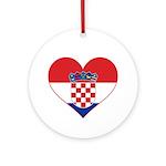 Heart of Croatia Ornament (Round)