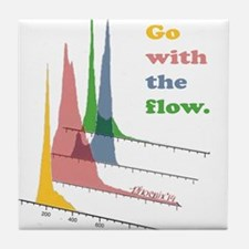 Go with the flow-cytometry Tile Coaster