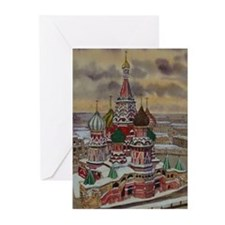 Cute Russia Greeting Cards (Pk of 20)