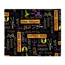 Happy Halloween III Throw Blanket