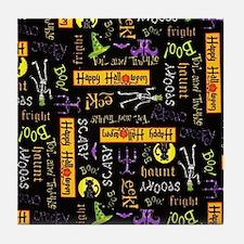 Happy Halloween III Tile Coaster
