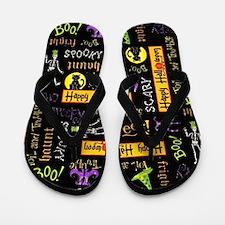 Happy Halloween III Flip Flops