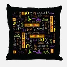 Happy Halloween III Throw Pillow