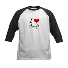 I Love Airsoft artistic Design Baseball Jersey