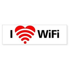 I Love Wifi Bumper Sticker