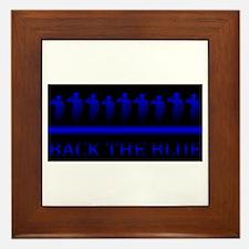 The thin blue line Framed Tile