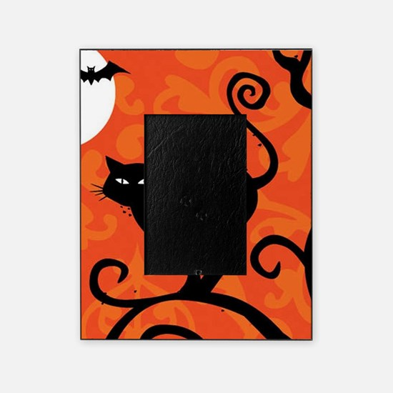 Halloween Cat Picture Frame