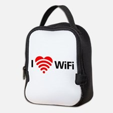 I Love Wifi Neoprene Lunch Bag