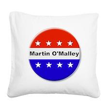 Vote Martin OMalley Square Canvas Pillow