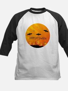 Sunset Bats and Pumpkins Baseball Jersey