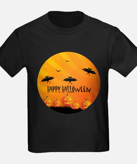 Sunset Bats and Pumpkins T-Shirt