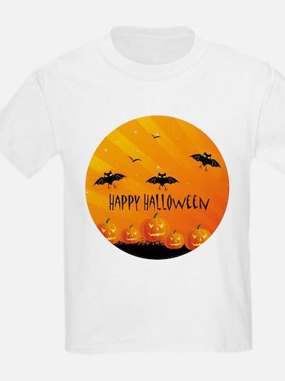 Sunset Bats and Pumpkins T-Shirt