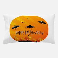 Sunset Bats and Pumpkins Pillow Case