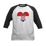 Heart of Croatia Kids Baseball Jersey