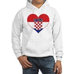 Heart of Croatia Hooded Sweatshirt
