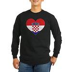 Heart of Croatia Long Sleeve Dark T-Shirt