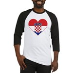 Heart of Croatia Baseball Jersey