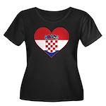 Heart of Croatia Women's Plus Size Scoop Neck Dark