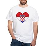 Heart of Croatia White T-Shirt
