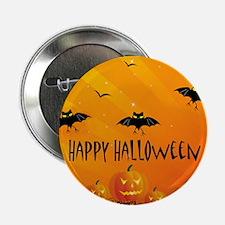 """Sunset Bats and Pumpkins 2.25"""" Button"""