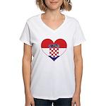 Heart of Croatia Women's V-Neck T-Shirt
