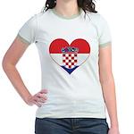 Heart of Croatia Jr. Ringer T-Shirt