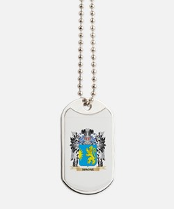 Simone Coat of Arms - Family Crest Dog Tags