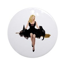 WITCH'S NIGHT OUT Ornament (Round)