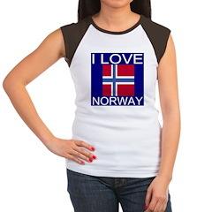 I Love Norway Women's Cap Sleeve T-Shirt