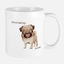 When God Made Pugs Mugs