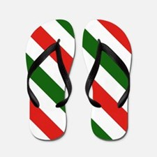 Candy Cane Stripes Holiday Pattern Flip Flops