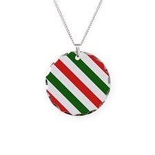 Candy Cane Stripes Holiday P Necklace
