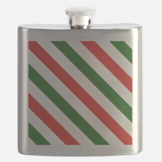 Candy Cane Stripes Holiday Pattern Flask